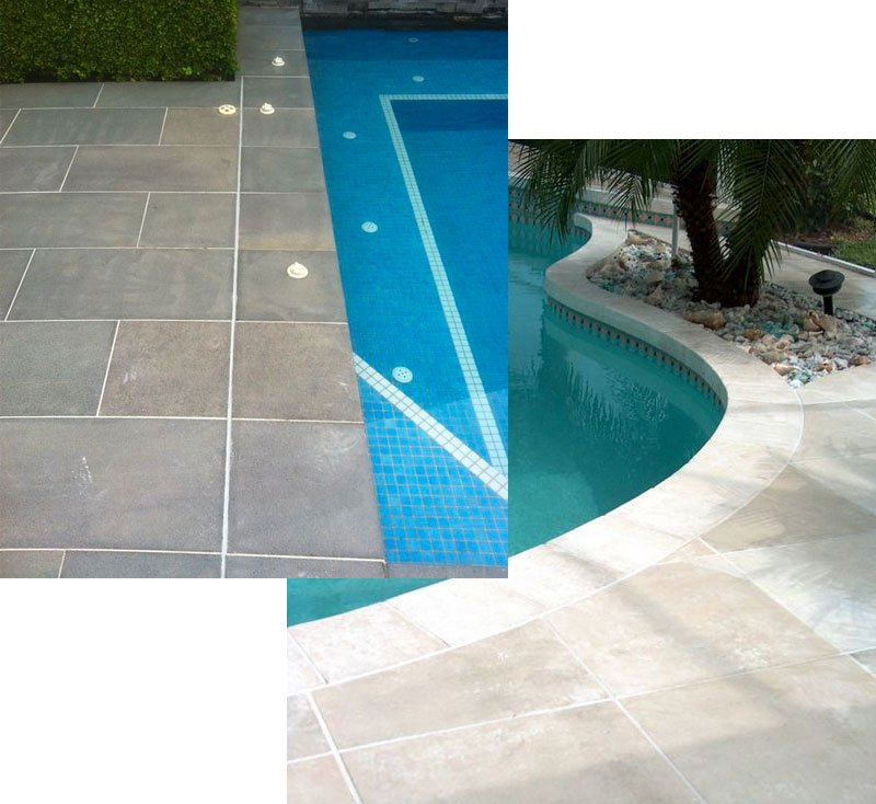 elegant tiles for pool deck